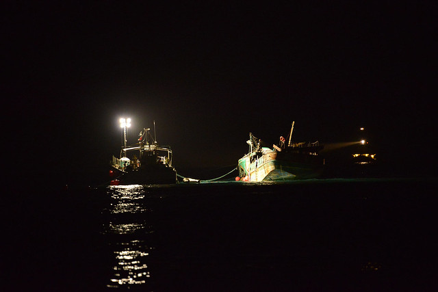 Crews make progress towing Pacific Paradise off Kaimana Beach
