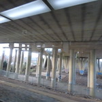 Under the M6 - between Bedworth and Coventry Arena stations