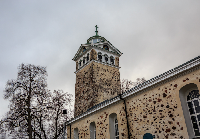 Tammisaari vanha kaupunki kirkko kirkontorni