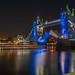 Tower bridge in blue light