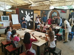 Making pottery at Sisi's party