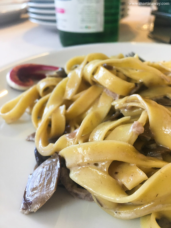 Tagliatelle al Radicchio di Treviso IGP e formaggio Collina di Treviso, Agriturismo Il Cascinale