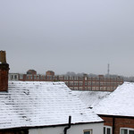 Snowy rooftops in Preston