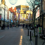 Sunshine down Friargate, Preston