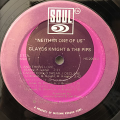 GLADYS KNIGHT & THE PIPS:NEITHER ONE OF US(LABEL SIDE-B)