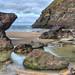 The coast at Mawgan Porth, Cornwall