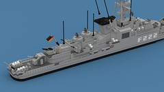 German frigate Augsburg F-222