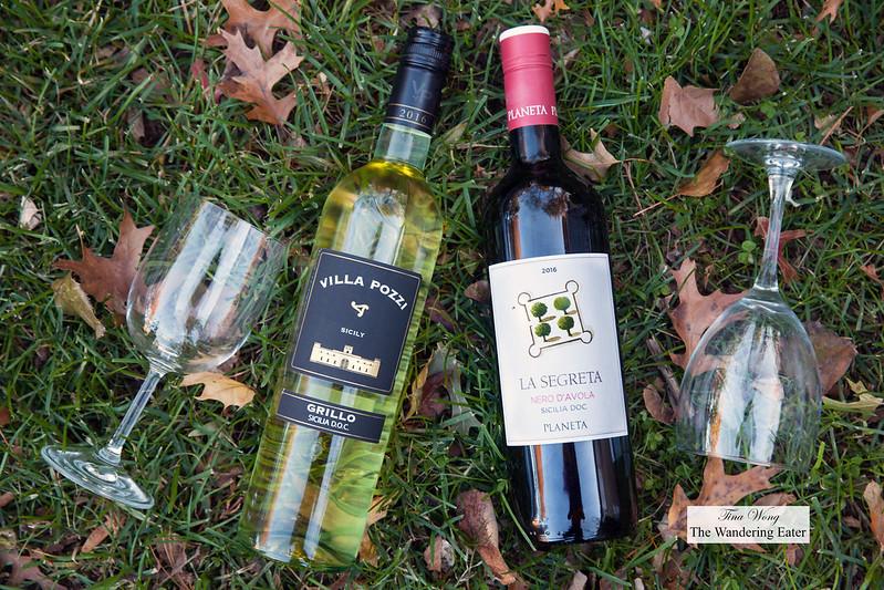 Wines of Sicily - Villa Pozzi, Grillo Sicilia DOC & Planeta, La Segreta, Nero d'Avola La Segreta Il Rosso