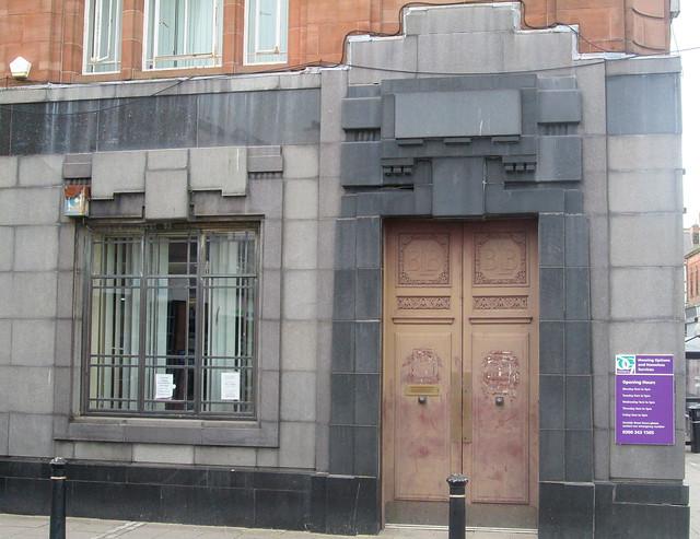British Linen Bank, Dumfries, Door Detail