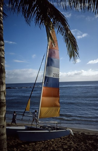 Sailboat Hawaii Kodachrome 1986