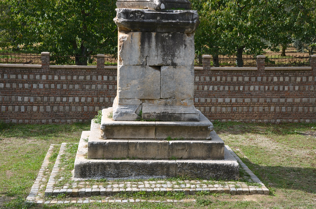 The Beştaş Obelisk, an obelisk-like funeral monument of  Gaius Cassius Philiscus located outside Nicaea, 1st century AD, Iznik, Turkey