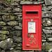 George VI post box (LA22 171), Skelwith Bridge, Langdale, Lake District National Park, Cumbria, UK