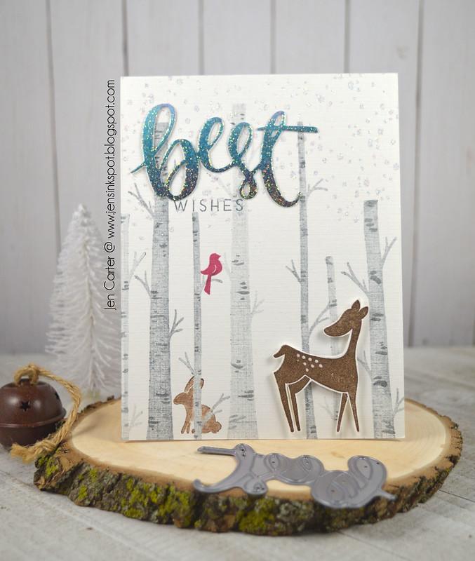 Jen Carter CP Winter Woodland Best Wishes 1