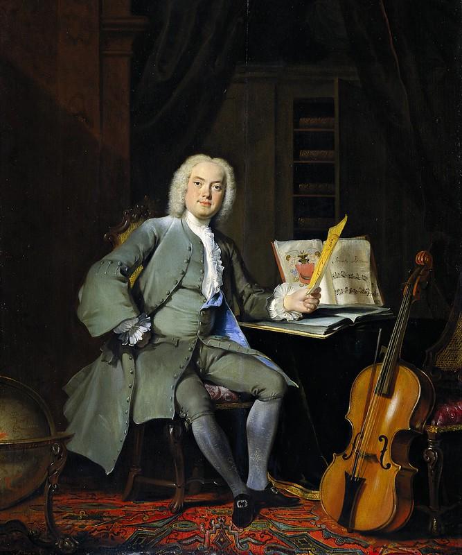 Cornelis Troost - Portret van een lid van de familie Van der Mersch (1736)