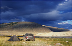 The camp in Mongolia