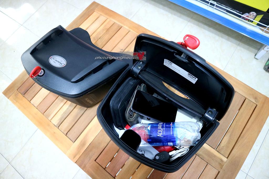 phutunghanghieu.vn, thùng giữa Givi, thùng giữa Givi K10N, thùng giữa Givi G10N, thùng giữa xe máy, thùng đựng đồ xe máy