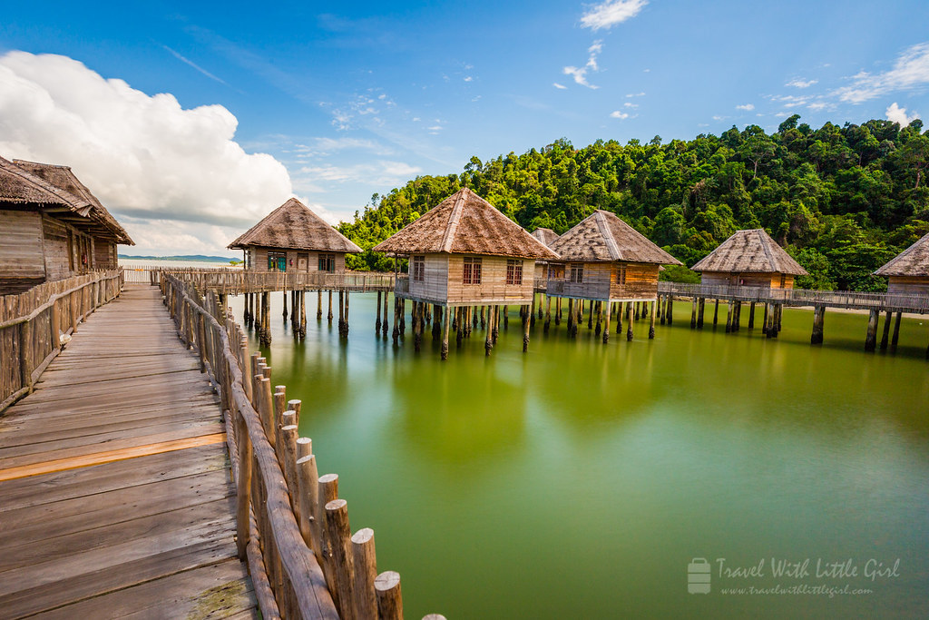 The resort rooms at the Telunas Beach Resort