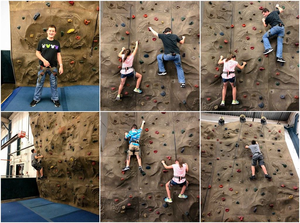 rock climbing at the pit