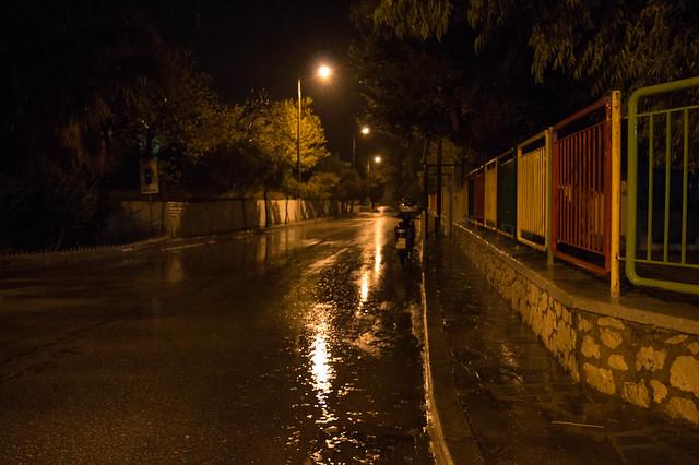 Νυχτερινή φθινοπωρινή βροχή Ψίνθος (04/11/2017)