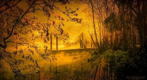 warmth warmcolors light nature naturesbeauty naturalbeauty beauty inspirational heaven lightrays shaftoflight illumination water river creek sunrise spiritual mist misty mistoverwater serenity