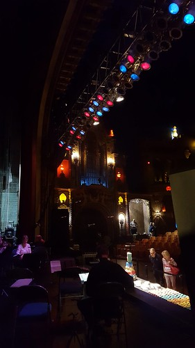 A backstage tour included looking out into the audience! Yelp Kalamazoo Helps Celebrate State Theatre's 90th Anniversary