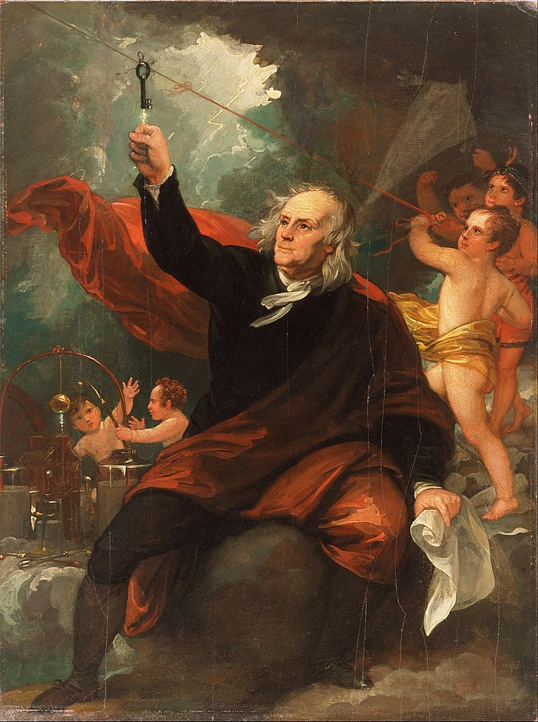 Benjamin Franklin kite lightning