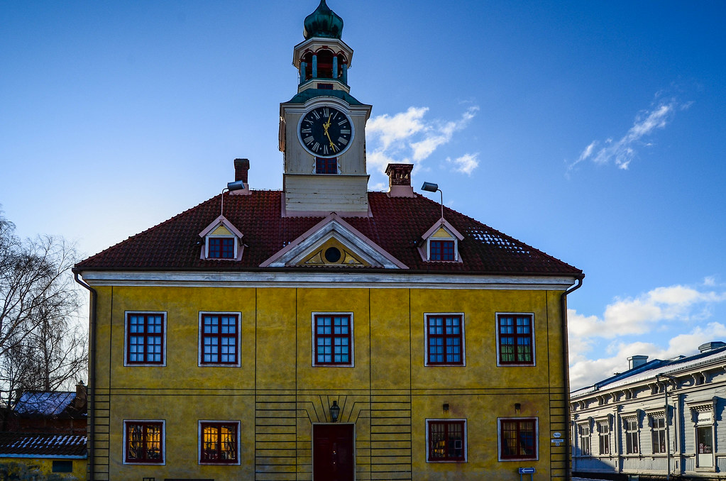 The old town hall is the most famous building in Old Rauma