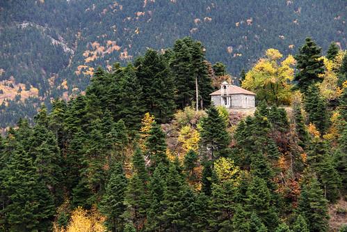 mountain mountscape mountains mountainofgreece greekmountains church hellas greece autumn