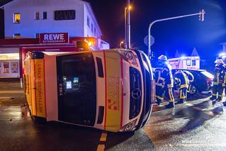 Zusammenstoß mit Rettungswagen Mainz 10.11.17