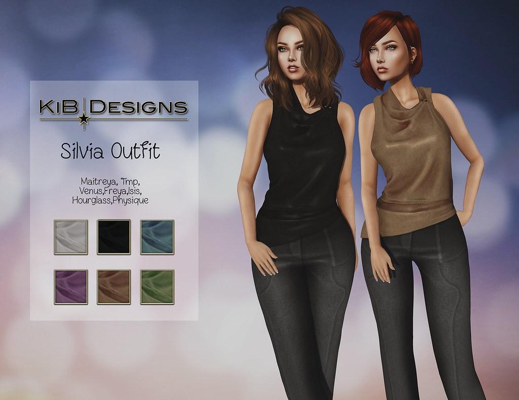 KiB Designs - Silvia Outfit @Designer Showcase - TeleportHub.com Live!