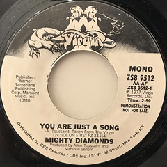 MIGHTY DIAMONDS:YOU ARE JUST A SONG(LABEL SIDE-B)