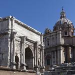 Arco di Settimio Severo & Chiesa dei Santi Luca e Martina, Foro Romano (Rome Forum,), Rome, Italy_8720 - https://www.flickr.com/people/27830927@N03/