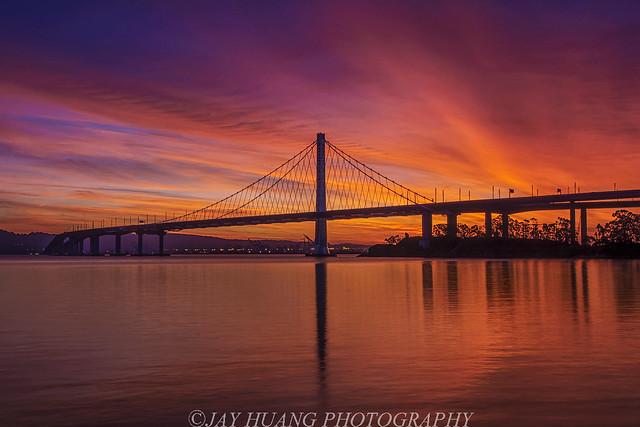 Sunrise At Bay Bridge