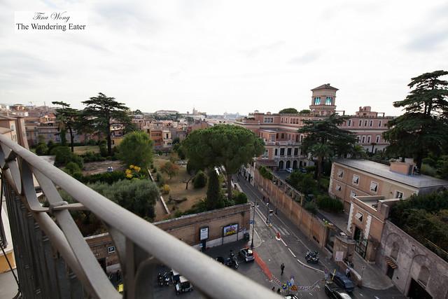 Blacony view at Villa Medici Presidential Suite