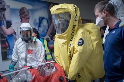 Ebola - nácvik zásahu