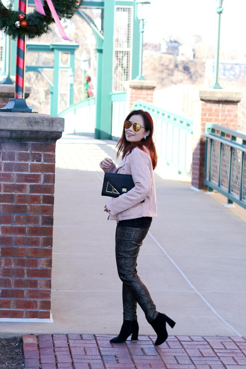 blush-jacket-membersonly-black-tee-versona-metallic-pants-4