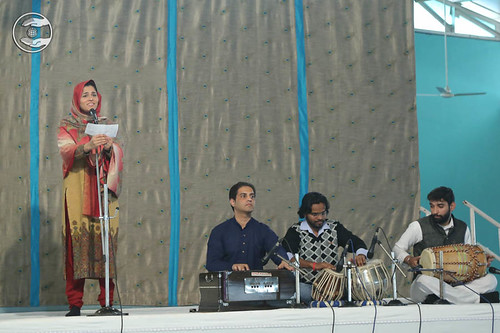 Devotee expresses her views in the form of devotional song