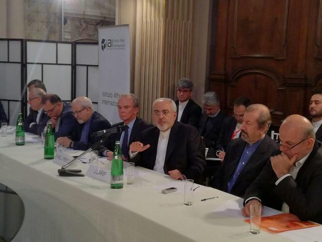 Javad Zarif incontra lo IAI