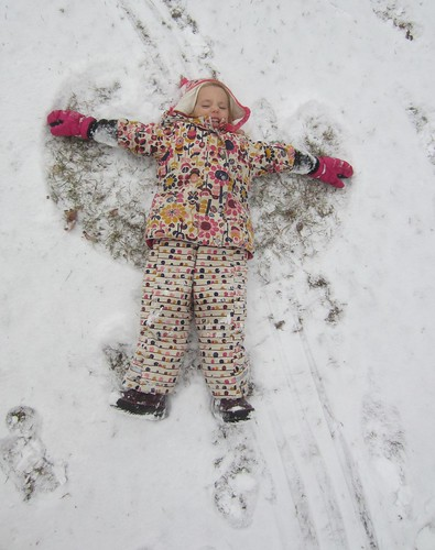 an angel in the snow