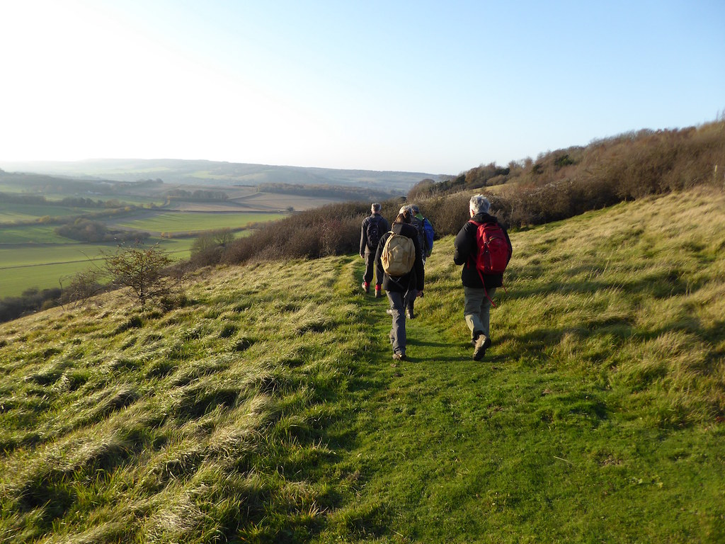 On the escarpment after lunch Chilham Circular walk
