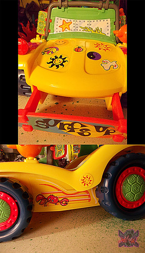 TEENAGE MUTANT NINJA TURTLES :: MIKE'S KOWABUNGA SURF BUGGY .. turns viii (( 1991 ))