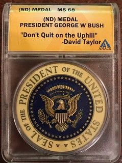 George W Bush Challenge coin ANACS holdered reverse2