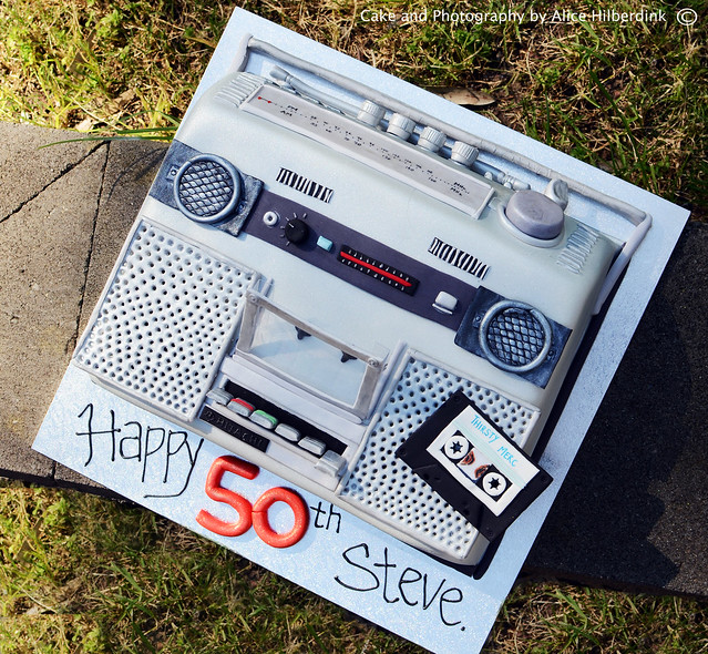 0s Boom Box Cake by Alice Hilberdink