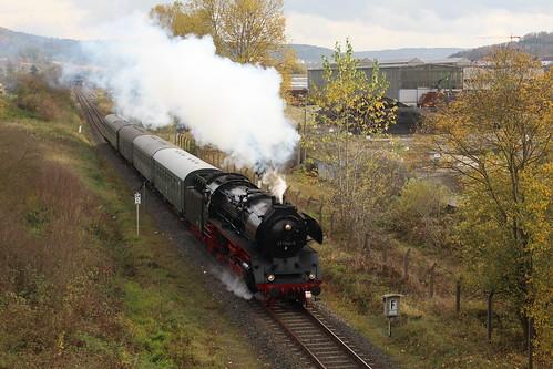 2017-10-26; 0090. Loc 41 1144-9 met trein DLr (203). Walldorf. Plandampf 2017. Ein Kessel Buntes.