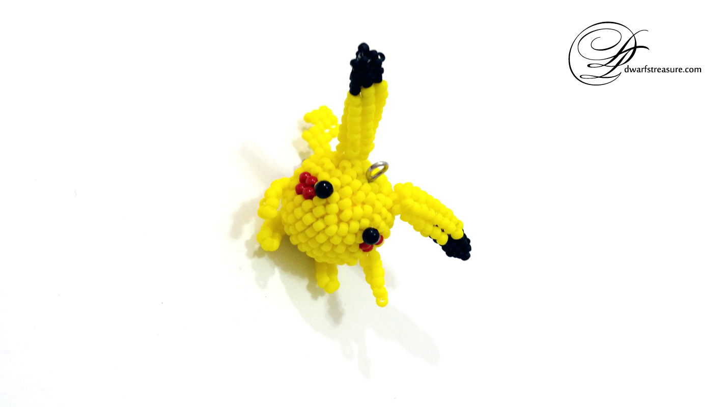 cute yellow beaded Pokémon figurine Pikachu