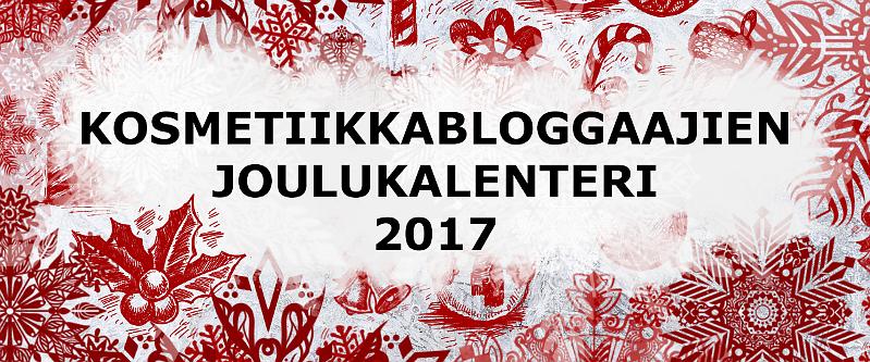kosmetiikkabloggaajien joulukalenteri 2017