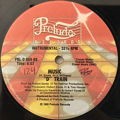 D TRAIN:MUSIC(LABEL SIDE-B)