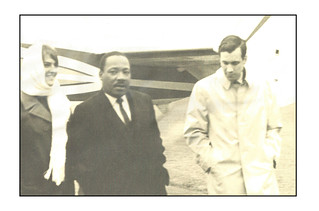 'With Dr. Martin Luther King Jr' No.2 -- Near Grinnell (IA) October 29, 1967  LS RC