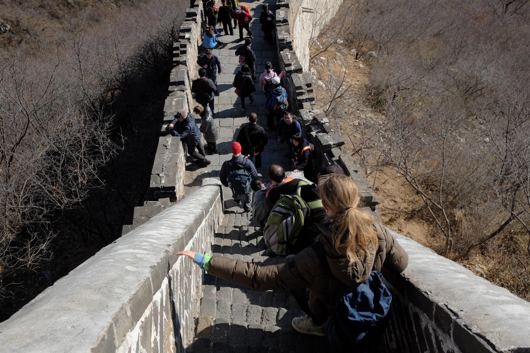 Abstieg nach Mutianyu