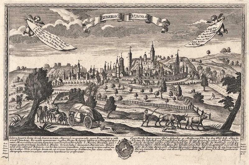 Unknown - Gesamtansicht, 'Biberacu - Biberach' (c.1720)